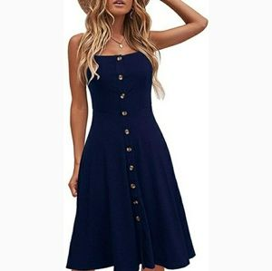 🆕 Navy blue casual dress